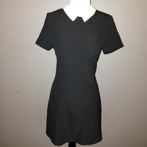 Wednesday Addams Inspired White Collar Black Dress